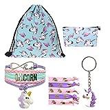 Unicorn Gifts – Drawstring Bag|Girls Bag|Necklace|Bracelet|Hair Ties|Keychain