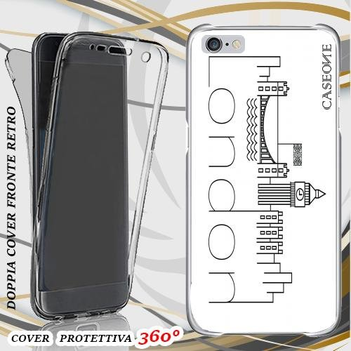 CUSTODIA COVER CASE LONDON STYLOGRAFY PER IPHONE 6 PLUS FRONT BACK