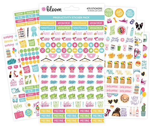 Bill Sticker - bloom daily planners Productivity Planner Stickers - Variety Sticker Pack - Six Sticker Sheets Per Pack!