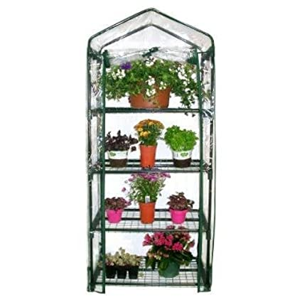 This Compact Greenhouse Offers 4 Shelves Where You Can Grow Your Gardenu0027s  Plants And Vegetables To Your Heartu0027s Content, And Can Easily Be Set Up On  Your ...