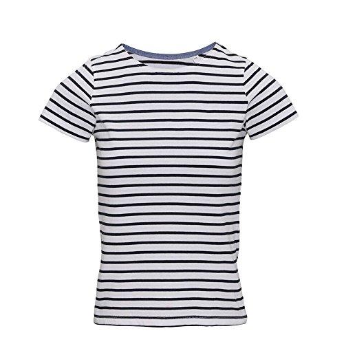Asquith Fox Womens/Ladies Mariniere Coastal Short Sleeve T-Shirt (S) (White/Navy) ()