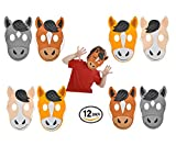 Play Kreative Kids Horse Foam Mask - 12 pk Farm Animal Masks – Zoo Party Costume
