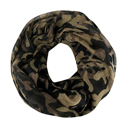 GERINLY Camouflage Pattern Unisex Lightweight Infinity Loop Scarf (Color2) (Party Tea Framed)