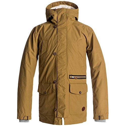 (Quiksilver Men's Sedona 2 in 1 Winter Snow Jacket, British Khaki, XS )