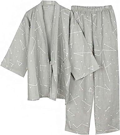 Traje de Pijama de Kimono de Gasa de Kimono de Estilo japonés ...