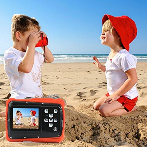 Kids Digital Camera – Waterproof to 3 Meters – HD Video Recorder and 5 Mega Pixels – Shockproof Childrens Camera (Orange)