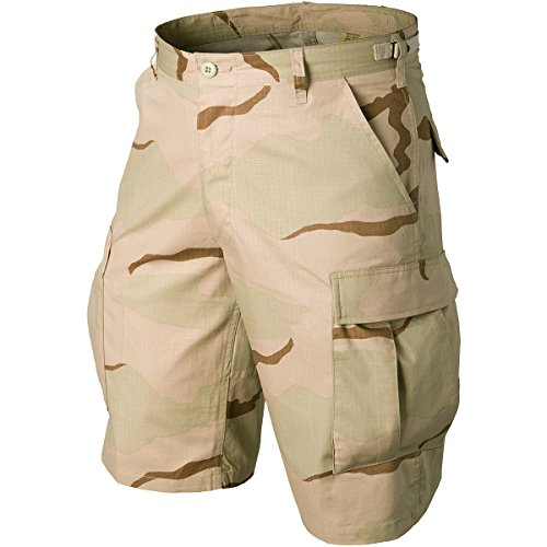 Ripstop Army Cargo Bdu Shorts - Helikon Genuine BDU Shorts Cotton Ripstop 3-Colour Desert size XXL