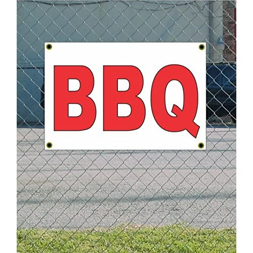 Nice BBQ 2x3 White w/ Red Banner Sign for sale