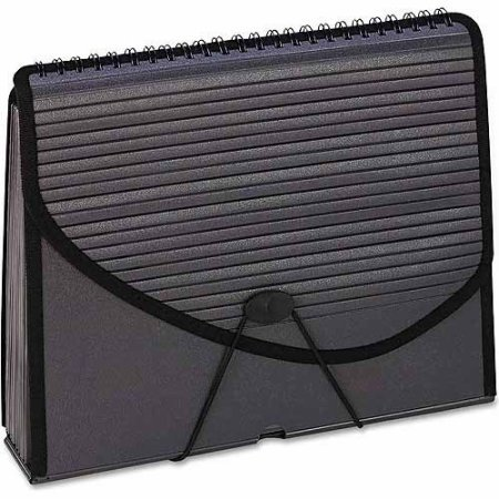 Pendaflex 13-Pocket Expanding Spiral File Folder Smoke (13 Pockets Expanding Spiral File)
