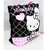 Hello Kitty Black Tote Bag – Pink Hearts