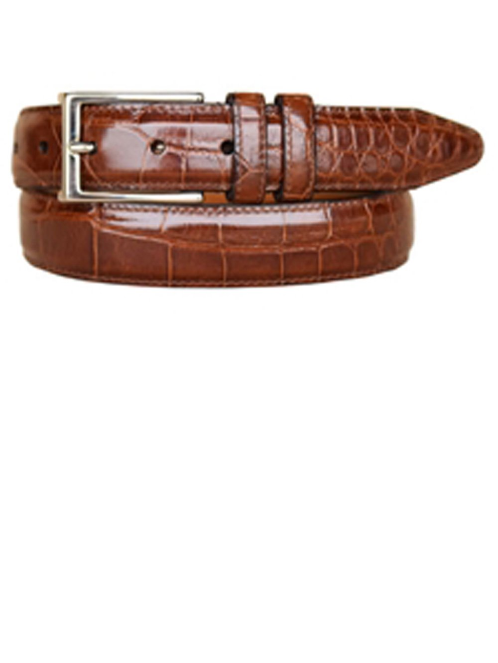 Lejon Cognac 32mm Parkhill American Alligator Full Grain Belt 42