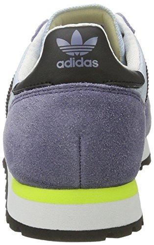 adidas Unisex-Erwachsene Haven Sneaker Low Hals Blau (Easy Blue/core Black/solar Yellow)