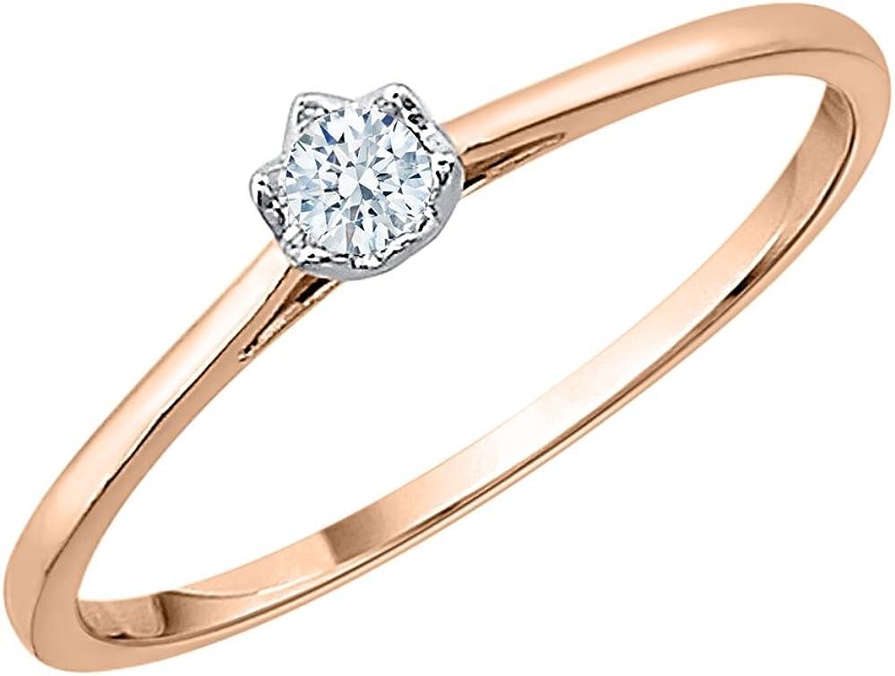 G-H,I2-I3 1//10 cttw, 3 Diamond Promise Ring in 10K White Gold Size-4.75