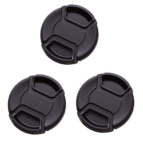 IMZ Lens Cap Bundle - 3 x 72MM Front Lens Filter Snap On Pinch Cap Protector Cover For DSLR SLR Camera Lens