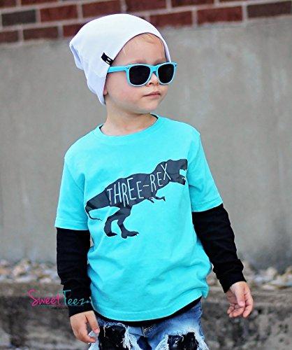 Third Birthday Shirt Three-Rex Dinosaur For Boys or Girls 3rd Birthday Shirt by SweetTeez LLC