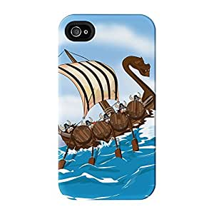 Viking Skip Full Wrap High Quality 3D Printed Case for iPhone 4 / 4s by Nick Greenaway + FREE Crystal Clear Screen Protector