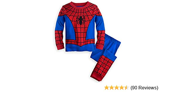 Amazon.com: Disney Store Deluxe Spiderman Spider Man PJ Pajamas Boys Toddlers: Clothing
