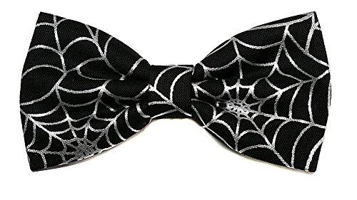 EmilyRose Couture Mini Halloween Hair Bow Collection (Medium Headband (Kids), Metallic Spider Web/Black) ()