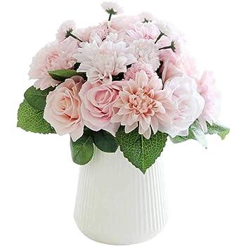 Amazon.com: Artificial Flowers,Fake Flowers Silk Flowers Wedding 10 ...