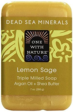 One with Nature, Triple Milled Soap Bar, Lemon Sage, 7 oz (200 g) by One With Nature