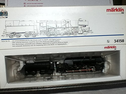 (Marklin HO Digital STEAM 2-10-0 Locomotive Serie 56 CFL 34158 (Special Design with Black Wheels))