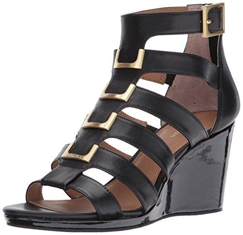 pour Sandales compensées femmes Klein Brillia noir Calvin q6I5BwZ4