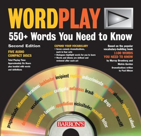 WordPlay: 550+ Words You Need to Know by Bromberg Murray Gordon Melvin (2004-08-01) CD-ROM