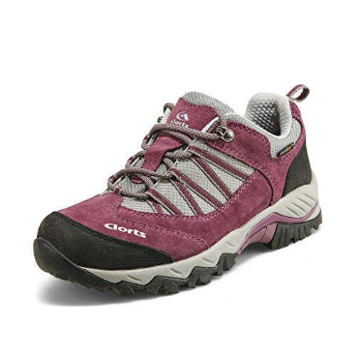 Clorts+Women%27s+Suede+Leather+Waterproof+Hiking+Shoe+Outdoor+Backpacking+Trekking+Shoes+Purple+HKL-831D+US8.5