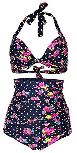 Cuteplus Vintage Floral Bikini SwimSuit