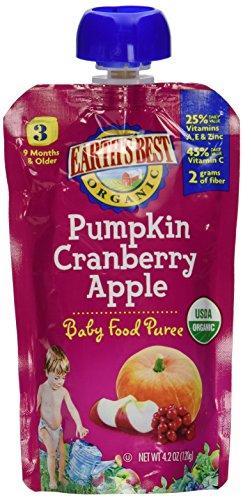 Earths Best Puree Pumpkin Cranberry