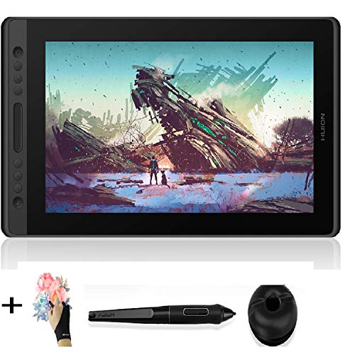 Huion Kamvas Pro 16 Drawing Monitor Pen Display, Bundle with Artist Glove(No Stand Included)