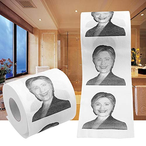 - Best Quality - Home - Hillary Clinton Donald Trump Dollar Humour Toilet Paper Gift Dump Funny Gag Roll - by LA Moon's - 1 PCs
