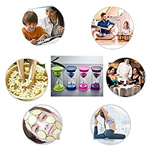 Toirxarn Reloj de arena, doble protección, asistente de gestión del tiempo, regalo creativo, decoración de la oficina de la sala de estar - 60 minutos Verde 5