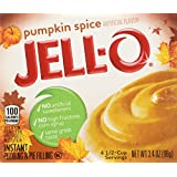 Kraft Jell-o Instant Pudding & Pie Filling, Pumpkin, 3.4-ounce Boxes (Pack of 4) by Jell-O