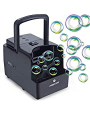 Automatic Bubble Machine for Kids 1500+ Bubbles per Min, PANACARE Portable Auto Professional Bubble Maker Blower Machine, Electric Bubble Toys for Parties Outdoor Indoor, Plug-in or Battery Powered