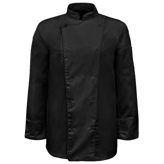 vidaXL Chaqueta de Chef Modelo Manga Larga Talla S Color Negra Pack 2  Unidades  Amazon.es  Ropa y accesorios 3249182f67fe6