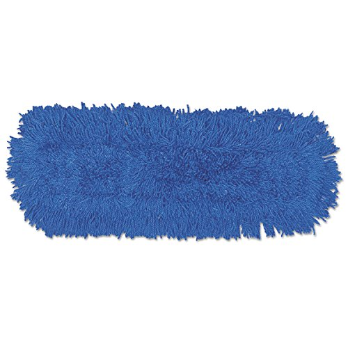 Twisted Loop Blend Dust Mop, Synthetic, 24 X 5, Blue, Dozen, New
