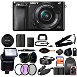 Sony Alpha a6000 Mirrorless Digitial Camera 24.3MP SLR Camera with 3.0-Inch LCD (Black) (16-50mm, Advanced Kit)