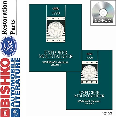 Mountaineer Service Manual (1998 Ford Explorer Mountaineer Shop Service Repair Manual CD Engine Electrical)