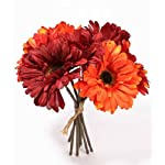 Inspired-By-Nature-925-Mixed-Red-and-Orange-Gerbera-Daisy-Silk-Floral-Bouquet-7-Stems-Total