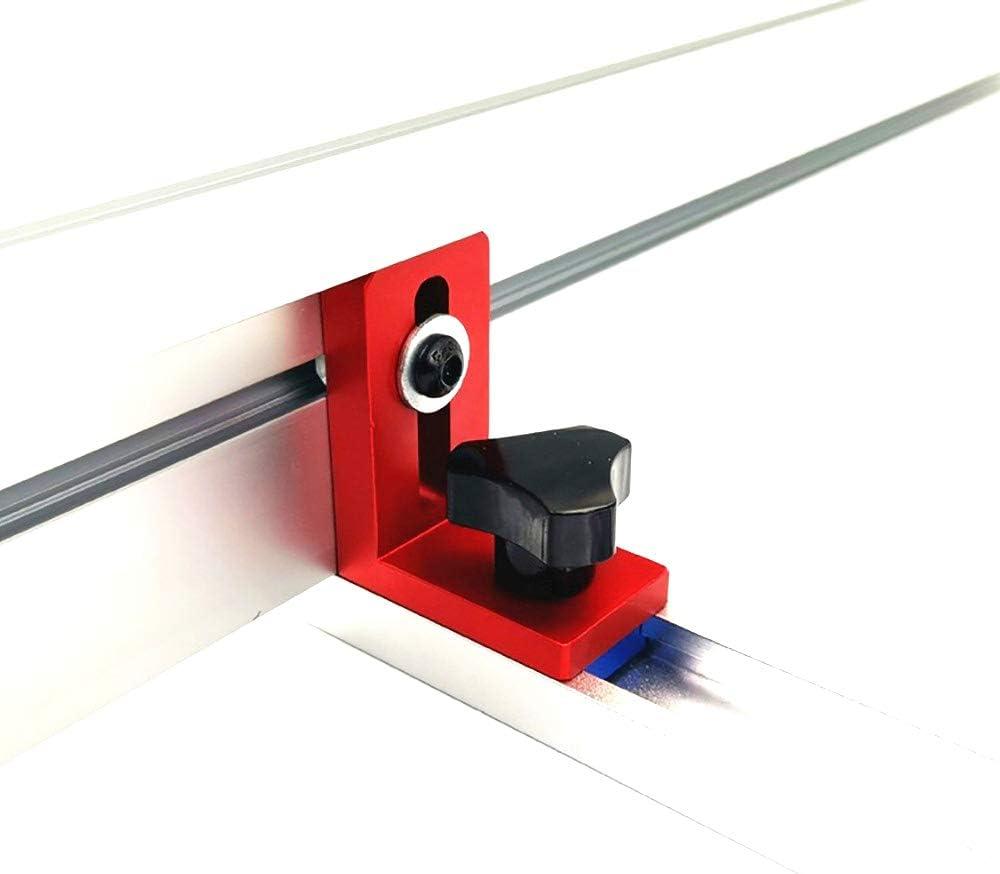 Laecabv 35//45 T-Nut Gehrungsspur H/ör auf zu rutschen Gehrungslehre Zaunverbinder Schienenhalter Holzbearbeitungswerkbank DIY Tools for 30mm t-track, Rot