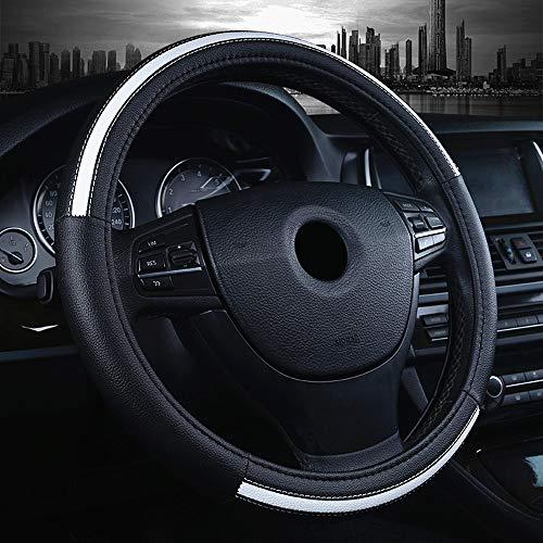 2012 Infiniti I30 Steering - LABBYWAY Car Steering Wheel Cover Microfiber Leather Universal 15-inch,Anti-Slip,Odorless,Four Seasons Universal (White)