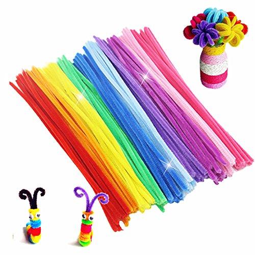 100pcs/lot Montessori Materials Math Chenille Sticks Puzzle Craft Children Kid Pipe Cleaner Educational Stems Craft Creative Toy