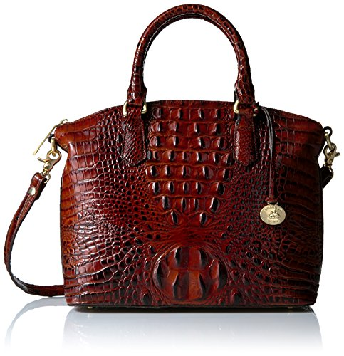 Brahmin Duxbury Satchel Convertible Top Handle Bag, Pecan, One - Handbags Convertible Satchel