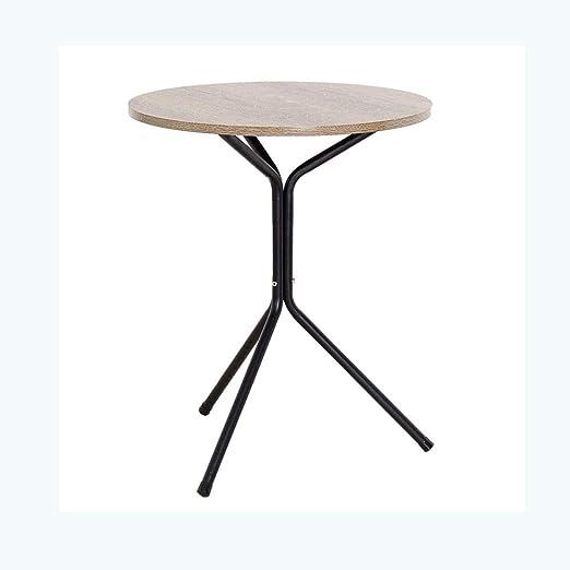 GWDJ Mesa auxiliar, mesa redonda for refrigerios Estructura de ...