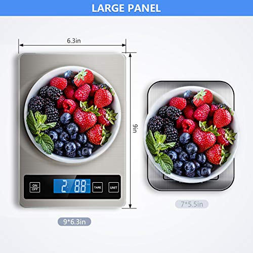 Nicewell Food Scale, 22lb Digital Kitchen Scale Weight Grams and oz for Cooking Baking, 1g/0.1oz Precise Graduation…