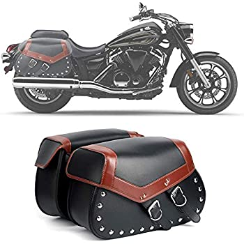 LARGE MOTORCYCLE SADDLEBAGS STUDS TOOL UNIVERSAL FIT FOR HARLEY INDIAN KAWASAKI