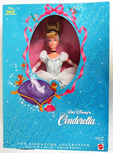 1998 - Mattel / Disney - Walt Disney's Cinderella - The Signature Collection - 4th in a Series - w/ Doll Stand / COA - Out of Production - New - Mint - Rare - Limited Edition - Collectible