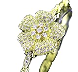 CHIC Ladies 18K Plated BLING Bracelet Crystal Watch Made with SWAROVSKI Elements
