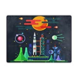 OPRINT Rocket Science and Technology Area Rugs kids Children Play Solid Home Decorator Floor Mat Non-Slip Carpet 80 x 58 Inch For Sale